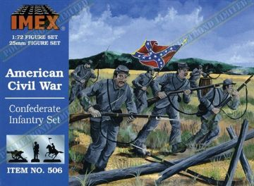 IMEX506 American Civil War Confederate Infantry Set 1:72 Scale